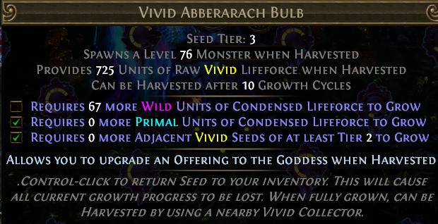 Tier 3 Vivid seed